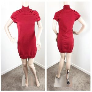 Planet Gold red sweater dress